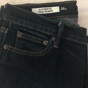 Gap Authentic True Skinny dark wash jeans
